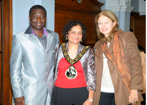 Rev. Alex Gyasi with Mayor of Haringey and Cllr Lorna Reith